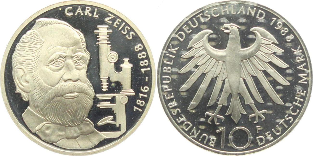 10 Dm 1988 F Deutschland Carl Zeiss Proof Ma Shops
