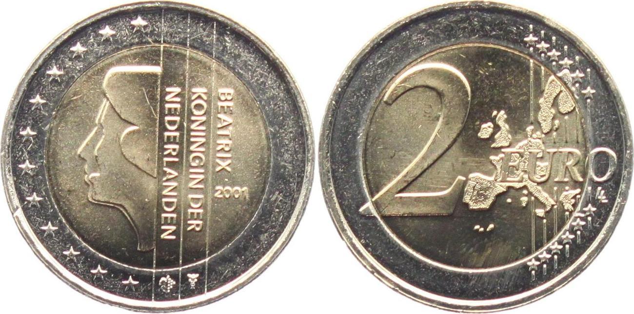 2 Euro 2001 Niederlande Königin Beatirix 1980 2013 Unc Ma Shops