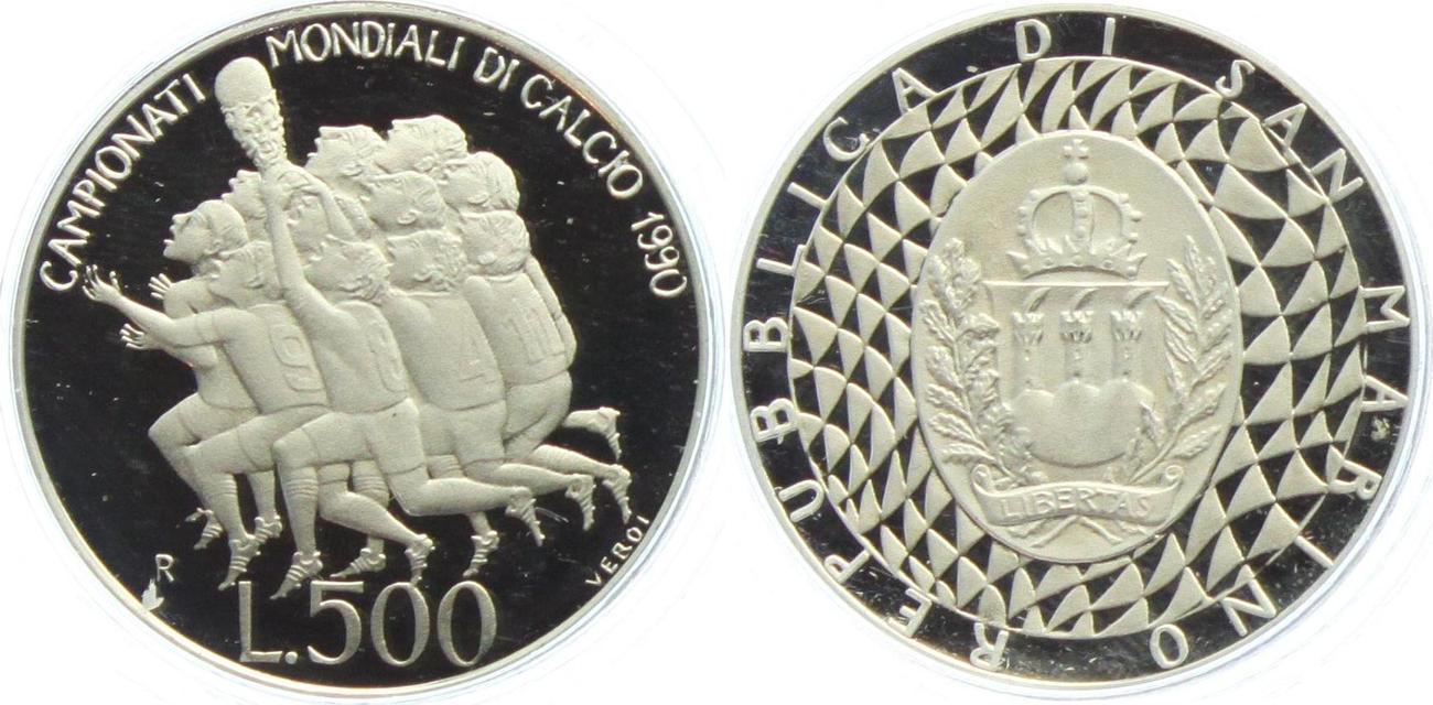 500 Lire 1990 San Marino Fußball Wm 1990 In Italien Ehrenrunde Der