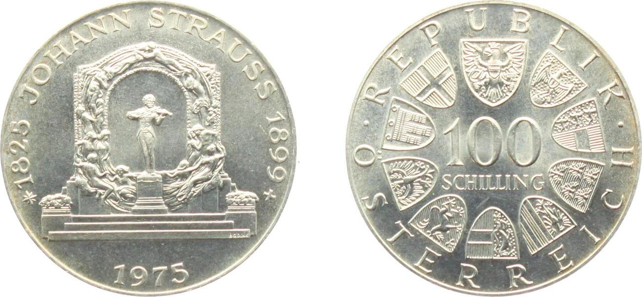 100 Schilling 1975 österreich Johann Strauss Unc Ma Shops