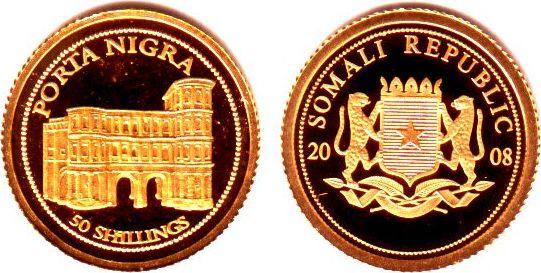 50 Shilling 2008 Somalia Porta Nigra In Trier Proof Ma Shops