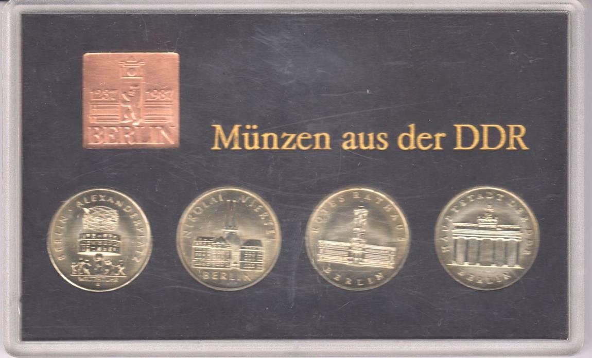 4x 5 Mark 1987 Ddr Themen Satz 4 750 Jahre Berlin Bu Ms65 70