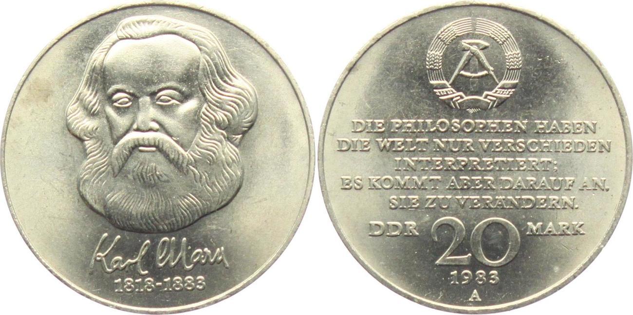 DDR 20 Mark 1983 Karl Marx BU | MA-Shops