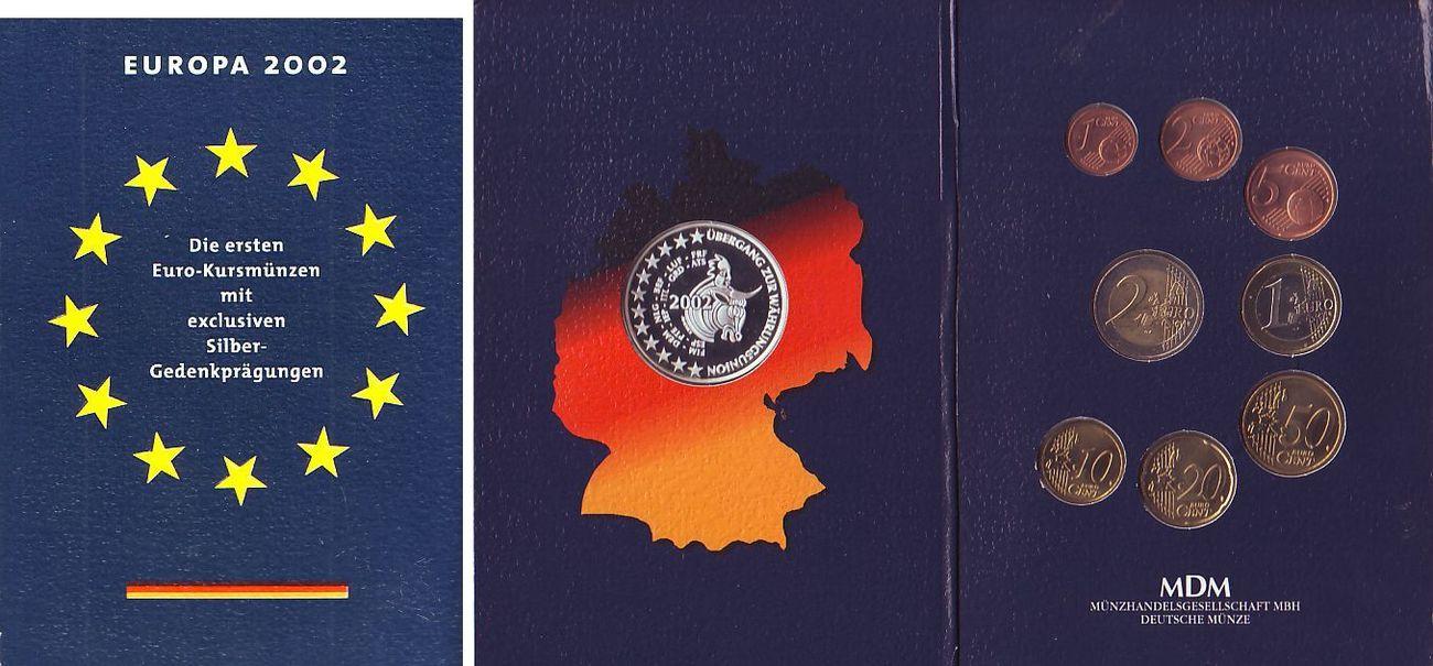 3 88 Euro Kms Medaille Im Folder 2002 Deutschland Brd Europa 2002 1 Cent 2 Euro Silbergedenkpragung Berlin Bbt Im Folder Unc Ma Shops