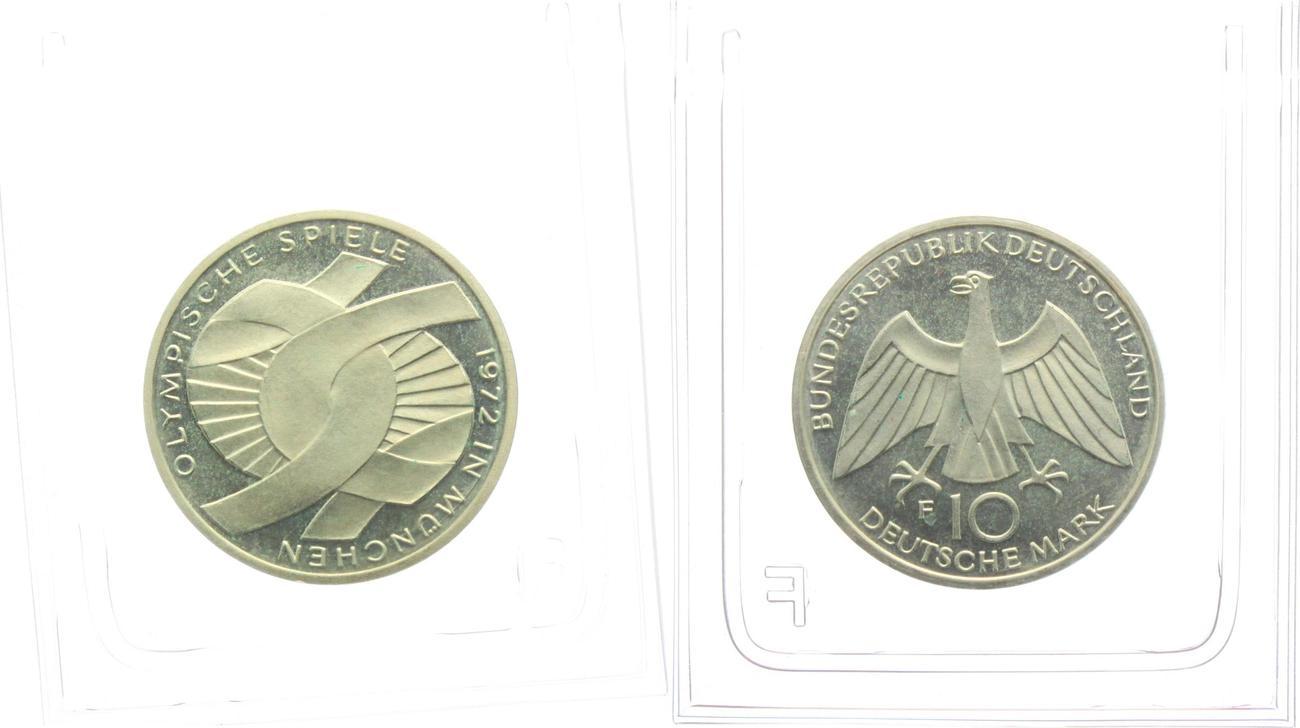 10 Mark 1972 F Deutschland Brd Olympische Spiele 1972 In München