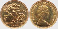 1/2 Sovereign 1982 Großbritannien Königin ...