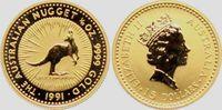 15 Dollar 1991 Australien 1/10 Gold-Unze -...