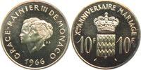 10 Francs 1966 Monaco Fürst Rainer III. (1...