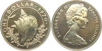 1 Dollar 1970 Bahamas Schnecke - Meeressch...