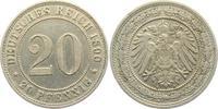 20 Pfennig 1890 A Kaiserreich 20 Pfennig -...