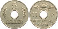 5 Heller 1913 A Deutsch Ostafrika Lochgeld...