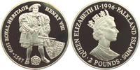 2 Pounds 1996 Falkland Inseln Heinrich VII...
