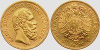 20 Mark 1873 F Württemberg König Karl von ...