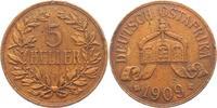 5 Heller 1909 J Deutsch Ostafrika  vz - ra...