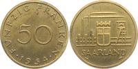50 Franken 1954qvz Saarland Industrielands...