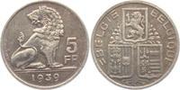 5 Franks 1939 Belgien Leopold III. (1934 -...