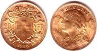 20 Franken 1935 LB Schweiz Vrenerli prägef...