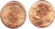 20 Franken 1927 Schweiz Vrenerli prägefrisch