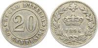 20 Centesimi 1894 KB Italien Umberto I. (1...