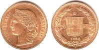 20 Franken 1896 Schweiz Kopf der Helvetia vz