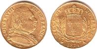 20 Francs 1814 A Frankreich König Ludwig X...