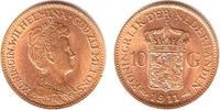 10 Gulden 1911 Niederlande Königin Wilhelm...
