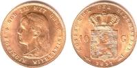 10 Gulden 1897 Niederlande Königin Wilhelm...