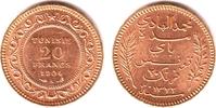 20 Francs 1904 A Tunesien Französische Pro...