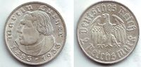 2 Reichsmark 1933 D Drittes Reich Martin L...
