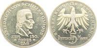 5 Mark 1955 F BRD Friedrich von Schiller f.st