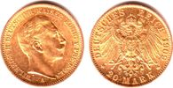 20 Mark 1909 A Preussen Kaiser Wilhelm II....