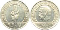 3 Mark 1929 D Weimar Schwurhand ss/vz