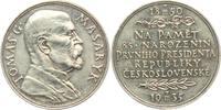 Medaille 1935 Tschechoslowakei 85. Geburts...