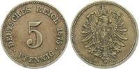 5 Pfennig 1875 C Kaiserreich 5 Pfennig - k...