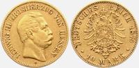 10 Mark 1875 H Hessen Ludwig III. ss