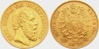 10 Mark 1873 F Württemberg König Karl von ...