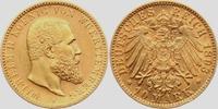10 Mark 1893 F Württemberg König Wilhelm I...