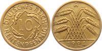 10 Rentenpfennig 1924 A Weimarer Republik 10 Rentenpfennig ss+  3,95 EUR  +  3,95 EUR shipping