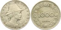 1000 Groschen 1924 Österreich Tirolerin mit Hut ss-vz  4,95 EUR  +  3,95 EUR shipping