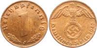 1 Reichspfennig 1940 J Drittes Reich 1 Reichspfennig - mit Hakenkreuz vz  2,95 EUR  +  3,95 EUR shipping