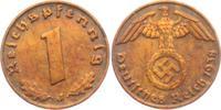 1 Reichspfennig 1938 J Drittes Reich 1 Reichspfennig - mit Hakenkreuz vz  1,95 EUR  +  3,95 EUR shipping