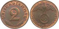 2 Reichspfennig 1940 D Drittes Reich 2 Reichspfennig - mit Hakenkreuz vz  2,00 EUR  +  3,95 EUR shipping