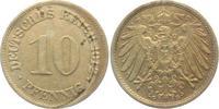 10 Pfennig 1912 G Kaiserreich 10 Pfennig - großer Adler ss-vz min. fl.  4,00 EUR  +  3,95 EUR shipping