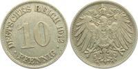 10 Pfennig 1912 G Kaiserreich 10 Pfennig - großer Adler ss  3,00 EUR  +  3,95 EUR shipping