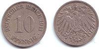 10 Pfennig 1911 J Kaiserreich 10 Pfennig - großer Adler ss  1,95 EUR  +  3,95 EUR shipping
