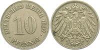 10 Pfennig 1907 D Kaiserreich 10 Pfennig - großer Adler f.vz  7,00 EUR  +  3,95 EUR shipping