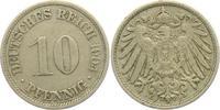10 Pfennig 1904 F Kaiserreich 10 Pfennig - großer Adler ss-vz  4,00 EUR  +  3,95 EUR shipping