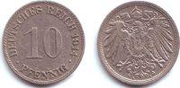 10 Pfennig 1914 A Kaiserreich 10 Pfennig - großer Adler vz  1,95 EUR  +  3,95 EUR shipping