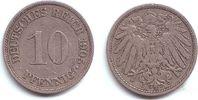 10 Pfennig 1905 A Kaiserreich 10 Pfennig - großer Adler ss  1,95 EUR  +  3,95 EUR shipping