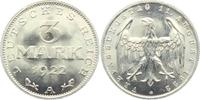 3 Mark 1922 A Weimarer Republik 3 Mark st  5,00 EUR  +  3,95 EUR shipping